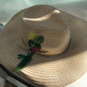 Eugenia Kim Sun Hat with Parot