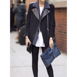 Sandro Jackets & Blazers - Sandro wool and leather coat 36