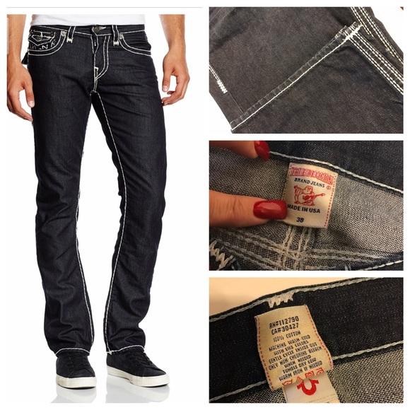 4b8ffff11 Men s True Religion Ricky BIG QT Dark Blue Jeans !  M 58ab1e3999086a502600af90