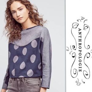 Anthropologie Tops - Anthropologie Metallic Dot Sweatshirt