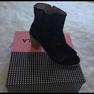 Shoes - *BRAND NEW* Black Mesh Peep Toe Boot