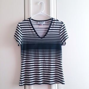 Vintage Striped V-Neck Tee