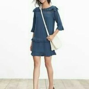 Banana Republic Blue Quarter Sleeve Dress