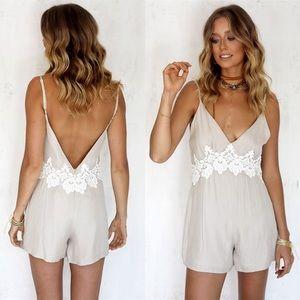 Sabo Skirt Dresses & Skirts - Sabo skirt Clara playsuit romper lace crochet