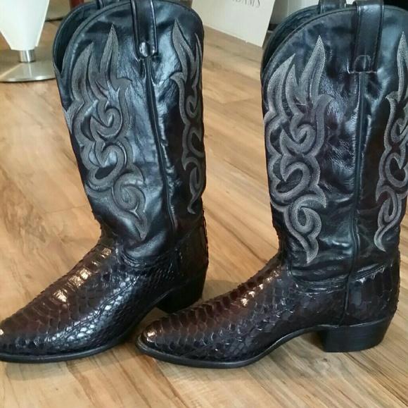 cbd559039d6 J. Chisholm Other - Men s Snakeskin Boots by J. Chisholm