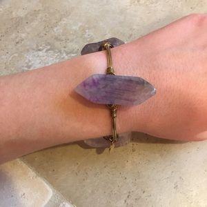 Purple Bourbon and Boweties bracelet