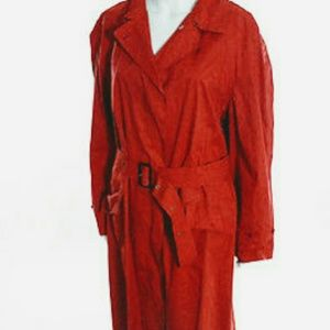 """Burberry Jackets & Blazers - AUTHENTIC """"RED""""BURBERRY TRENCH COAT(10)"""