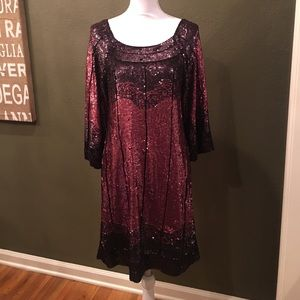 Badgley Mischka Dresses & Skirts - Mark & James Badgley Mischka Red Sequined Dress