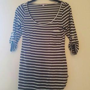 Three quarter striped shirt