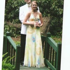 Dresses & Skirts - Dave and Johnny yellow multcolor prom dress size 6