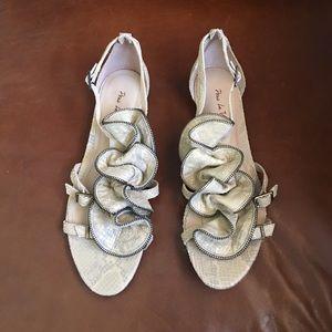 Pour la Victoire Shoes - Pour la Victoire Snakeskin Sandals