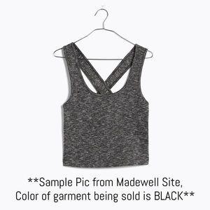 Madewell Tops - Black Cross-back Crop Top