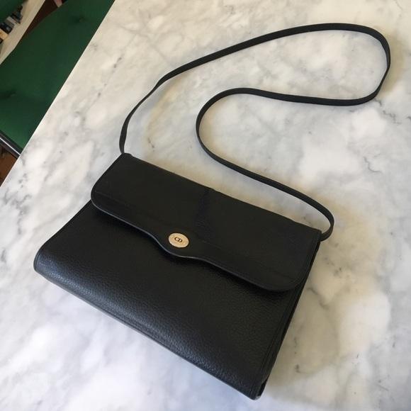 f623930592ae Christian Dior Handbags - Vintage Christian Dior Black Leather Crossbody Bag