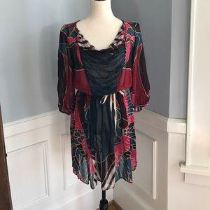 Corey Lynn Calter Anthropologie Silk Dress