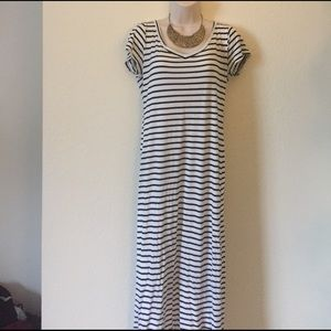 Triumph Dresses & Skirts - Black and White Striped Maxi Dress