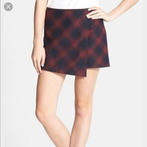 hinge Dresses & Skirts - Wool plaid asymmetrical skort