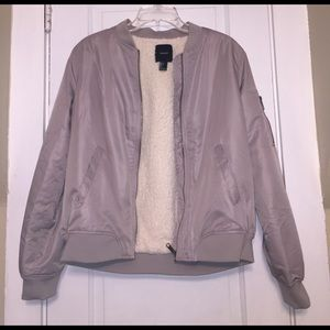 Shearling lined bomber jacket!