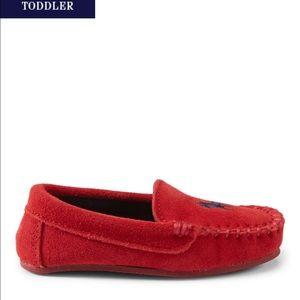 Ralph Lauren Other - Ralph Lauren toddler red suede moccasins