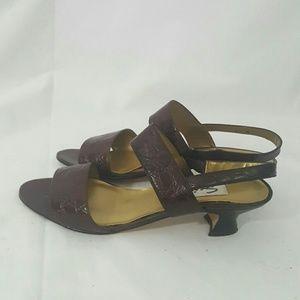 Spiegel Shoes - Spiegal Leather Alligator Embossed Sandals 7