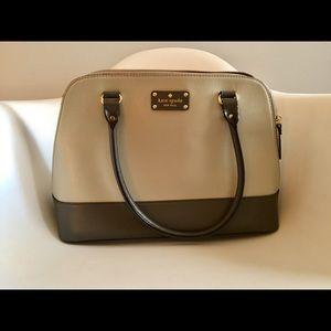 Kate Spade two-tone grey should bag