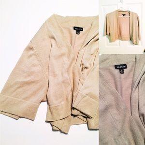 torrid Sweaters - Sparkly Beige Shrug