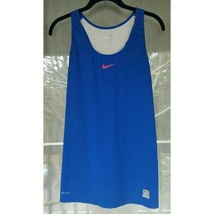 Nike Tops - ! Nike blue athletic top