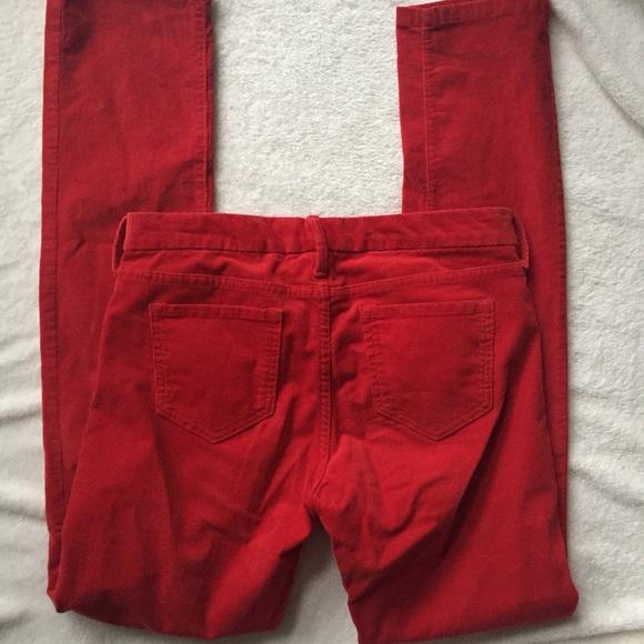 Banana Republic Pants - banana republic red skinny cords size 4/27