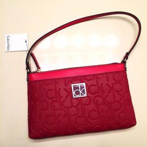 Calvin Klein Handbags - NEW Calvin Klein red handbag purse/wristlet