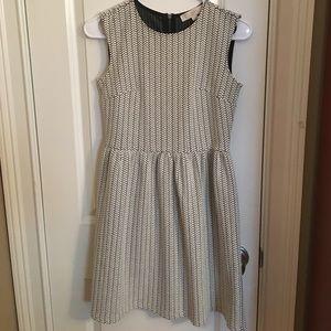LOFT Black and White Patterned Tank Dress