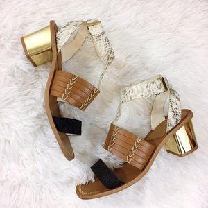 Aldo Shoes - ALDO chunky heel mixed media sandals