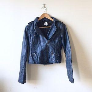 Nasty Gal Jackets & Blazers - Hooded faux leather moto jacket
