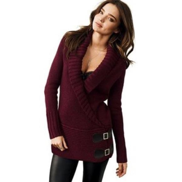 70% off Moda International Sweaters - Victoria's Secret burgundy ...
