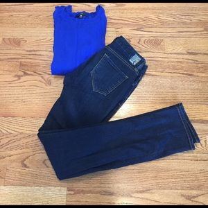 Denim - Dark Wash Skinny Jeans