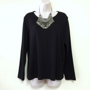 White Stag Tops - NWOT BLACK LONG SLEEVE TOP