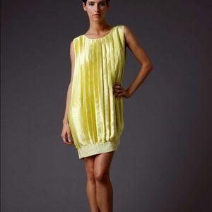 Adam Dresses & Skirts - Adam yellow pleated silk dress 0