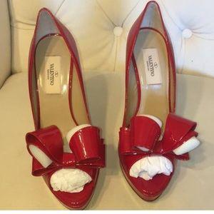 Valentino Couture Bow Red Platform Pump