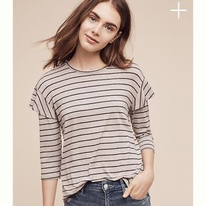 Anthropologie Striped tee XS