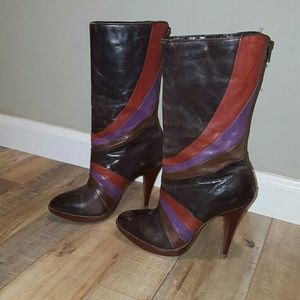 Luichiny Whoopi Platform Mid-Calf Leather Boots