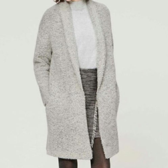 78% off LOFT Sweaters - Loft Boucle Sweater Coat, XS/SP from ...