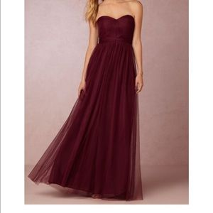 Jenny Yoo Dresses & Skirts - BHLDN Annabelle bridesmaids dress in black cherry