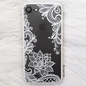 B-Long Boutique  Accessories - ❤️SALE❤️ white floral clear iPhone 7 phone case