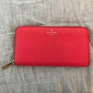 kate spade Handbags - Hot pink Kate Spade wallet