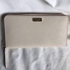 kate spade Handbags - Kate Spade Neda Laurel Way Leather Wallet-Pumice
