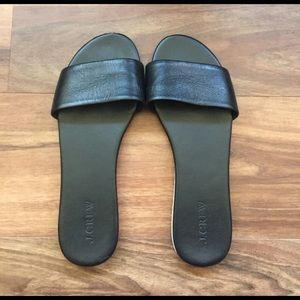 J. Crew Shoes - J.Crew Leather Slides
