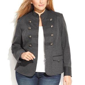 INC International Concepts Jackets & Blazers - NWOT INC Gray Military Inspired Blazer Jacket