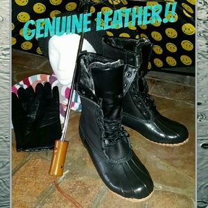 sporto Shoes - Winter & Rain Leather Boots, No more wet socks!!