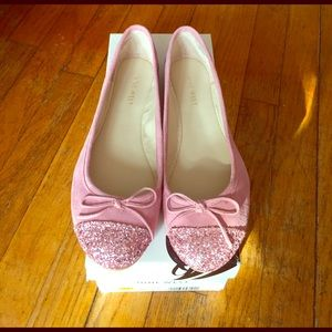 Nine West Shoes - Nine West Cacey Pink Glitter and Suede Flats