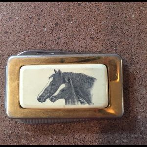 Other - Vintage horse and foal money clip.