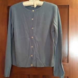Fashion Bug Sweaters - Blue cardigan with white shell buttons!