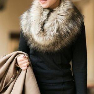 Merona Other - 🌙Merona Grey Fur Scarf